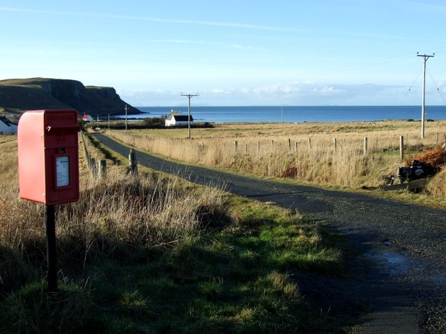 Post box at Bornesketaig