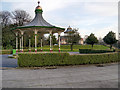 SD5706 : Bandstand and Pavilion, Mesnes Park by David Dixon