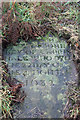 SJ8180 : Gravestone in the Quaker graveyard by Peter Turner