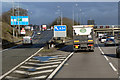 SP1475 : Northbound M42, exit at Junction 4 by David Dixon