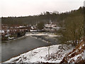 SD7706 : River Irwell, Weir at Mount Sion by David Dixon