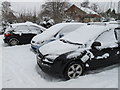 SE6184 : Snow on cars, Helmsley Youth Hostel by David Hawgood
