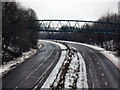 SE4825 : Footbridge over the A1246 at Brotherton by derek dye