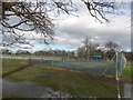 TQ3372 : View of the tennis courts in Dulwich Common from College Road by Robert Lamb