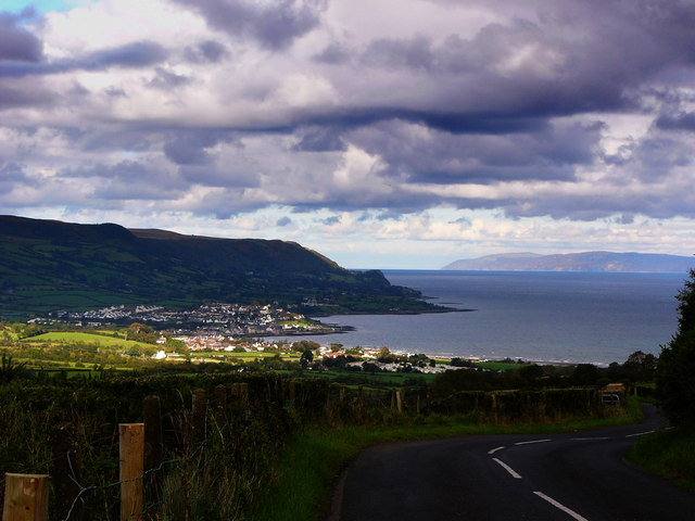 View of Carnlough from the Ballyvaddy Road