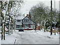 SO9095 : Snow in Penn, Wolverhampton by Roger  Kidd