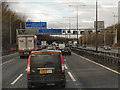SJ9703 : Northbound M6, Junction 10A by David Dixon