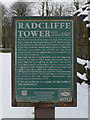 SD7907 : Radcliffe Tower plaque by David Dixon