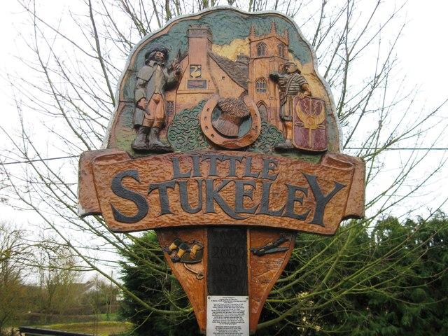 Village sign, Little Stukeley