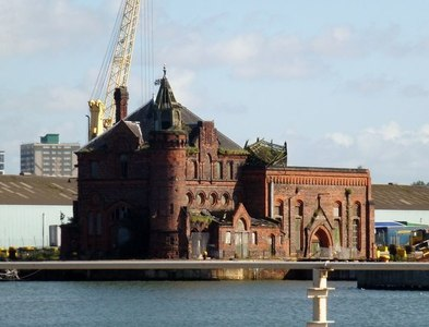 SJ3394 : Langton Dock Pumphouse, Bootle by Douglas Law