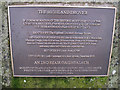 NH5457 : The Highland Drover - plaque by Richard Dorrell