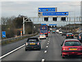 SJ9506 : Northbound M6, Junction 11 by David Dixon