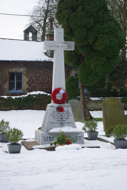 Magdalen war memorial in the snow