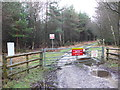 SY8291 : Military Access gate On Tonerspuddle Heath by Nigel Mykura