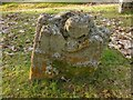 NS3478 : Old memorial beside St Mahew's Chapel by Lairich Rig