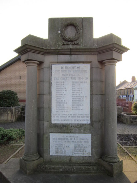 War Memorial for Radcliffe at Amble
