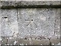 TA1063 : Bench mark and bolt on St Martins, Burton Agnes by John S Turner