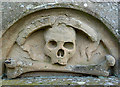 NT7726 : A memorial detail at Linton Parish Church by Walter Baxter