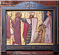 TQ3190 : St Mark, Noel Park - Station of the Cross No 1 by John Salmon