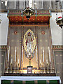 TQ2883 : St Michael, Camden Road - Reredos by John Salmon