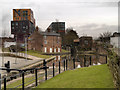SJ8598 : Ashton Canal, New Islington Wharf by David Dixon