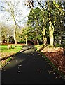 SO8275 : Path in Brinton Park, Sutton Road, Kidderminster by P L Chadwick