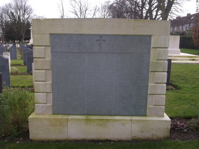 HMS Glatton war memorial, Woodlands Road Cemetery