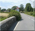 SN7028 : Llangadog : this part of Station Road is liable to flood by John Grayson