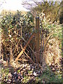 TM4262 : Old Gatepost near Knodishall footpath no.15 by Adrian Cable