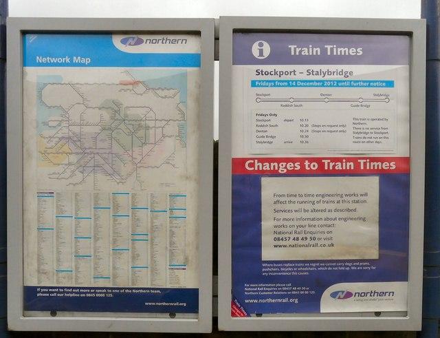 Train Times At Denton Station 169 Gerald England Geograph Britain And Ireland