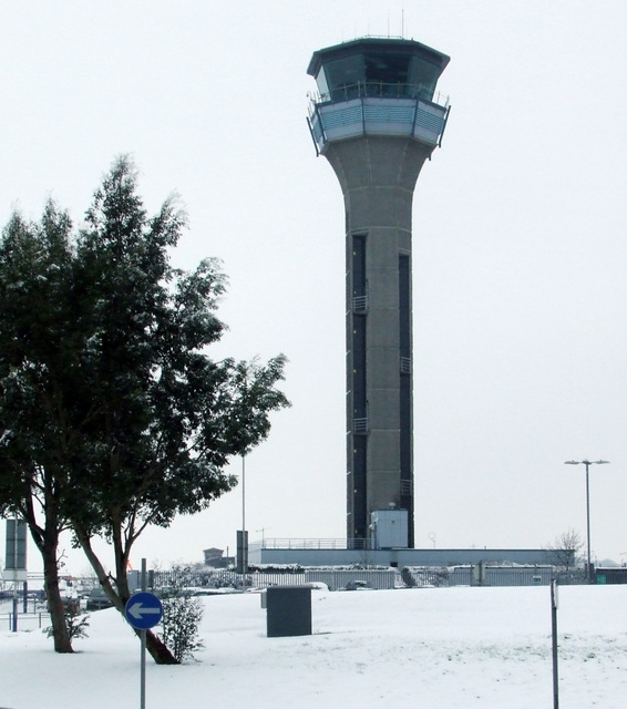 Snow at Luton Airport