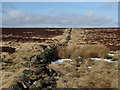 SK2677 : Old boundary wall on Big Moor by Andrew Hill