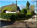 SU3144 : Cottage and footpath at Monxton by Shazz