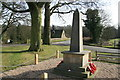 SK4565 : Stainsby - war memorial by Chris Allen
