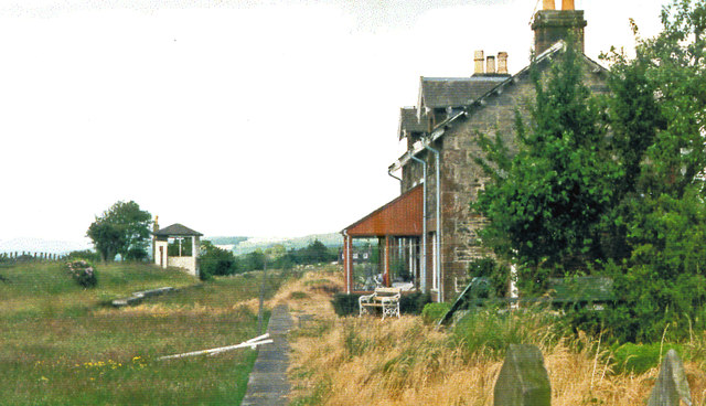 Crossmichael station (remains), 1986