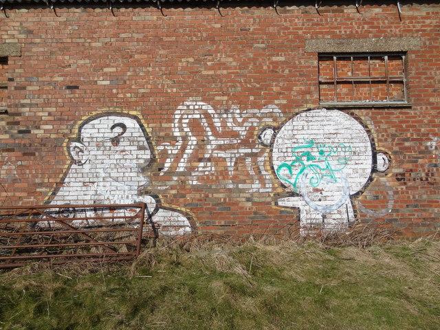 Strange graffiti at Truleigh Hill Barn