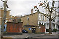 TQ2579 : Beatrice Place entrance and houses on Marloes Road by Roger Templeman