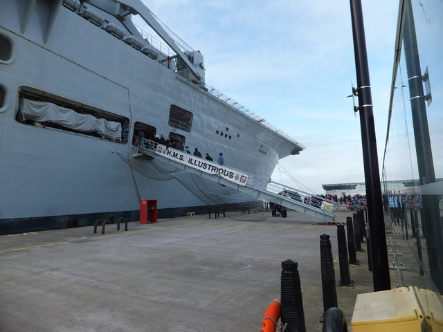 H.M.S. Illustrious - walkway