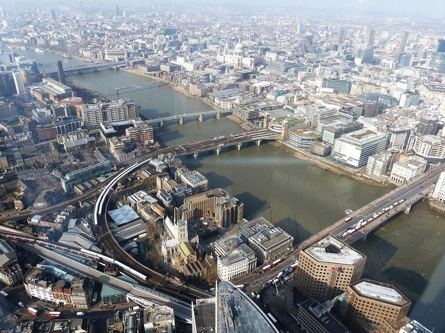 Bridges of Central London from The Shard