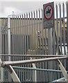 SX8671 : Notice at Town Quay bridge by Derek Harper