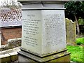NZ1665 : Inscription on obelisk of Hawthorn tomb, Church of St. Michael &amp; All Angels, Newburn by Andrew Curtis