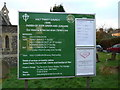 SU9691 : Holy Trinity Church, Seer Green, Noticeboard by Alexander P Kapp