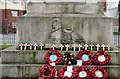 SJ8597 : Ardwick Green War Memorial lower detail on N side by Gerald England