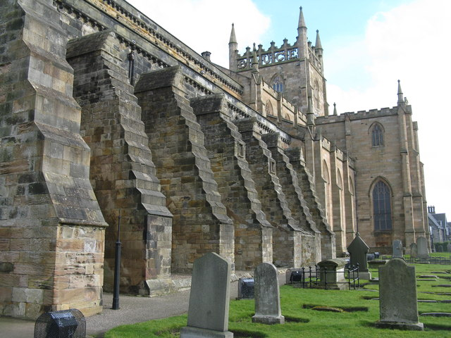 Dunfermline Abbey - south side and buttresses