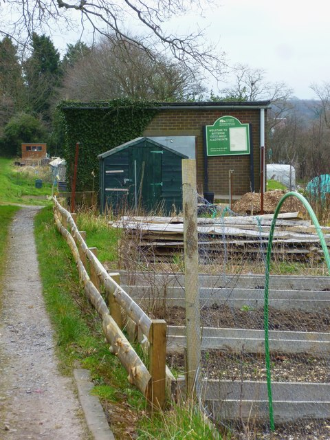 Entrance path for Bitterne West Allotments
