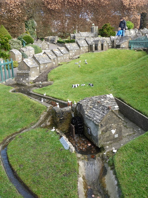 Corfe Castle: Model Village Watermill © Chris Downer Cc-by