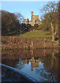 SD5868 : Hornby Castle reflected in the River Wenning by Karl and Ali