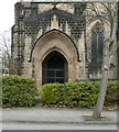 SE3138 : Doorway of Sty Edmund's Church, North Park Road by Humphrey Bolton