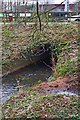 SO8374 : Entrance to culvert carrying Hoo Brook under Heronswood Road, Spennells, Kidderminster by P L Chadwick