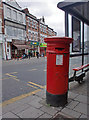TQ3092 : Large Victorian Pillar Box, The Triangle, Palmers Green, London N13 by Christine Matthews